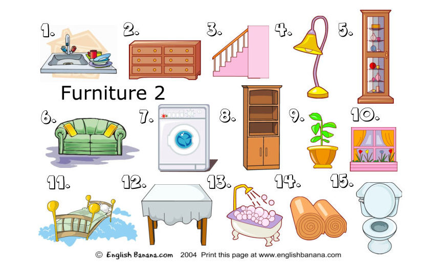 Furniture Words (PDF Project) | Free Woodworking PDF plans